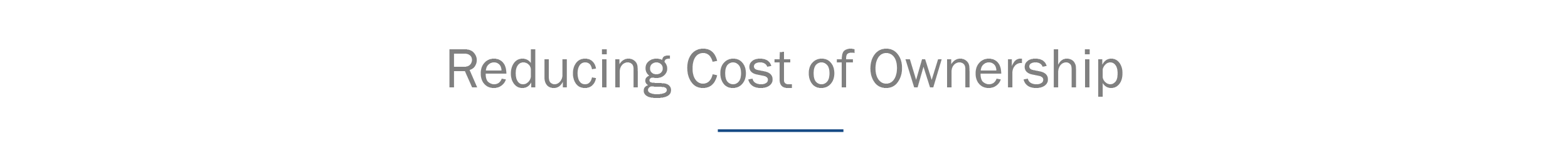 header_reduce cost of ownership